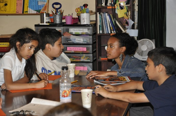 Jewels Smith visits After-school tutoring