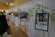 Hanging drapes of green paper leaves and tall easels framed the faces of this year's six new scholars.